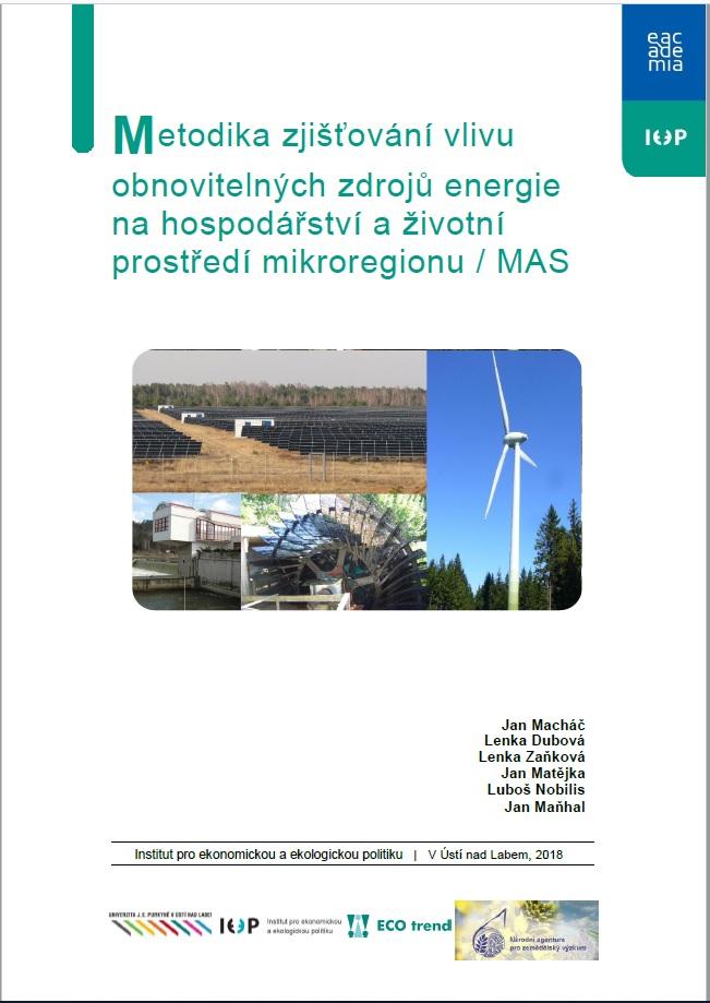 Metodika zjišťování vlivu obnovitelných zdrojů energie na hospodářství a životní prostředí mikroregionu / MAS thumbnail