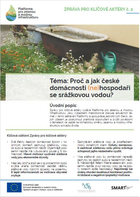 Proč a jak české domácnosti (ne)hospodaří se srážkovou vodou? thumbnail